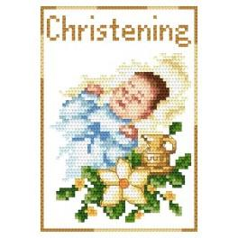 GU 4425-02 Cross stitch pattern - Rememberance of baptism - Boy