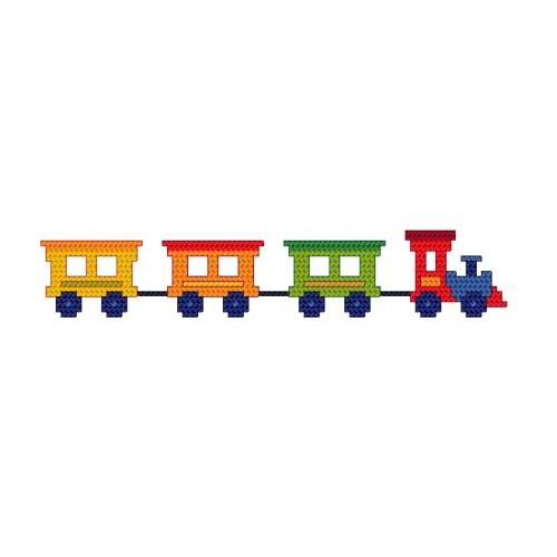 Bib with train - Cross Stitch pattern