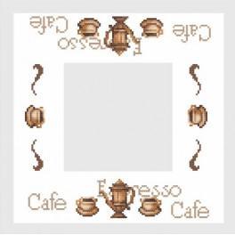 Napkin with kettle - Cross Stitch pattern