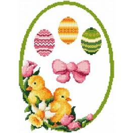 Decoration with easter eggs - B. Sikora-Malyjurek - Cross Stitch pattern