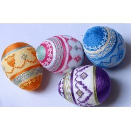 Pastel easter eggs - B. Sikora-Malyjurek - Cross Stitch pattern