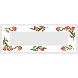 Table runner with tulips - B. Sikora-Malyjurek - Cross Stitch pattern