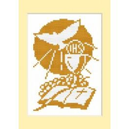 GU 4442 Holy communion card - Cross Stitch pattern