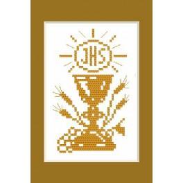 B.Sikora - Holy communion card - Cross Stitch pattern