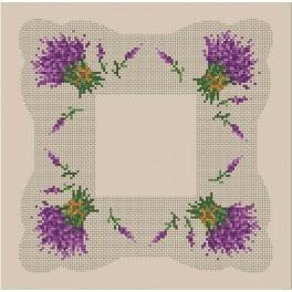 Napkin with the lavender - B. Sikora-Malyjurek - Cross Stitch pattern