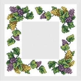 Napkin with grapes - B. Sikora-Malyjurek - Cross Stitch pattern