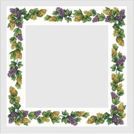 Table cloth with grapes - B. Sikora-Malyjurek - Cross Stitch pattern