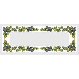 Table runner with grapes - B. Sikora-Malyjurek - Cross Stitch pattern