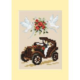 Wedding card - Automobile - B. Sikora - Cross Stitch pattern