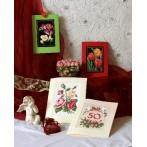 Birthday card - Colourful roses - B. Sikora - Cross Stitch pattern