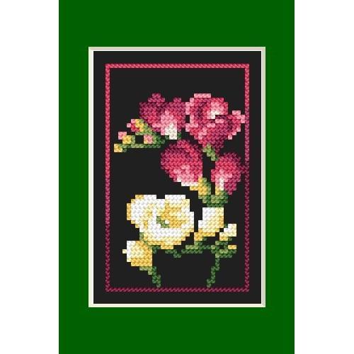 GU 4460-03 Birthday card - Freesias - B.Sikora - Cross Stitch pattern