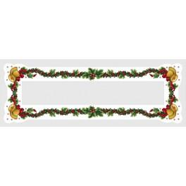 Table runner with bells - Cross Stitch pattern