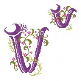 Monogram V - Cross Stitch pattern