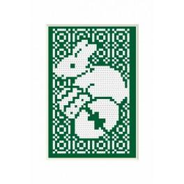 Easter Card- Hare - B. Sikora - Cross Stitch pattern