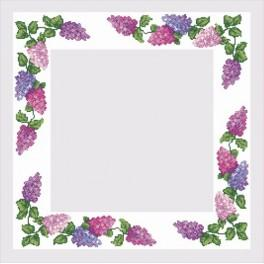 Table-cloth with colourful lilac - Cross Stitch pattern