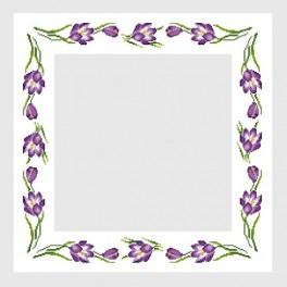 Table-cloth with crocuses - Cross Stitch pattern
