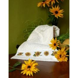 Towel with sunflowers - Cross Stitch pattern