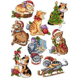 Cross stitch pattern - Christmas cats
