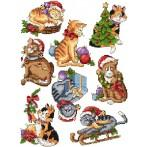 Cross stitch pattern - Christmas cats