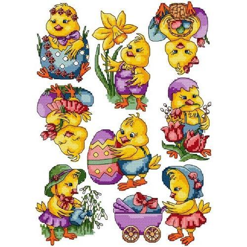 GU 4870 Cross stitch pattern - Easter chicks