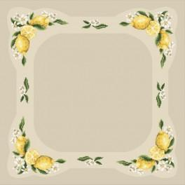 Table cloth with lemon - Cross Stitch pattern