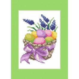 Easter postcard - Easter eggs - Cross Stitch pattern