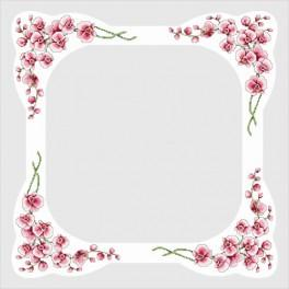 Tablecloth with orchids - Cross Stitch pattern