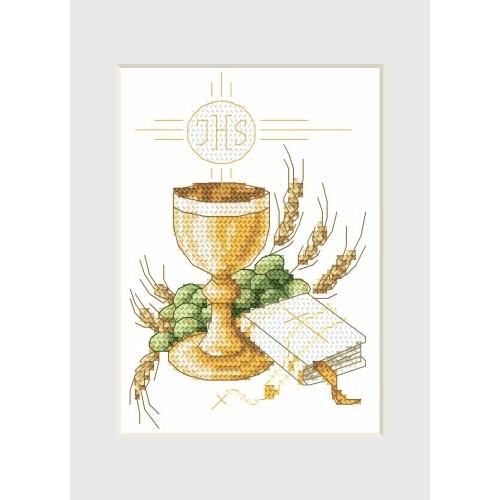 GU 4991 Holy communion card - Drinking-glass - Cross Stitch pattern