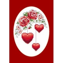 Greeting card - For you - Cross Stitch pattern