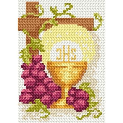 GU 8202 Holy communion card - Cross Stitch pattern