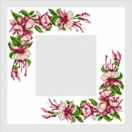 Napkin with a Fuchsia - Cross Stitch pattern