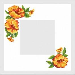 Napkin with a Hibiscus - Cross Stitch pattern