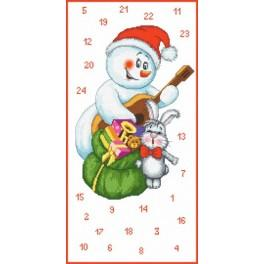 Adwent calendar - Musician snowman - Cross Stitch pattern