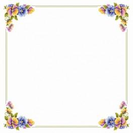 Tablecloth with pansies - Cross Stitch pattern