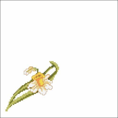 Small narcissus - Cross Stitch pattern