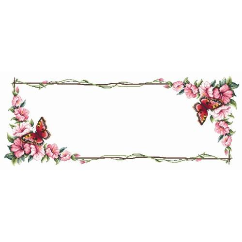 Table runner with butterfly - Cross Stitch pattern