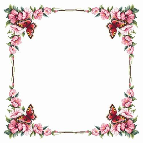 Tablecloth with butterfly - Cross Stitch pattern