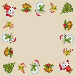 Christmas napkin - Cross Stitch pattern