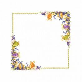 Tablecloth with spring flowers - Cross Stitch pattern