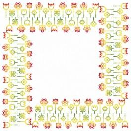 Napkin - Spring inspiration - Cross Stitch pattern
