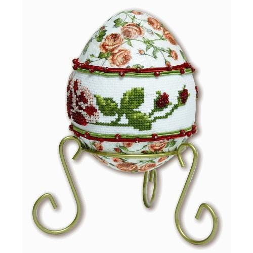 GU 8410 Rose egg - Cross Stitch pattern