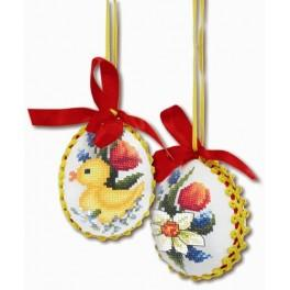 GU 8411 Cross stitch pattern - Spring eggs