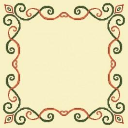 Napkin with arabesque - Cross Stitch pattern