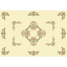 Tablecloth with arabesque - Cross Stitch pattern