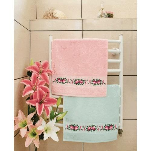 Towel with roses - Cross Stitch pattern