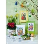 Easter postcard - Bunny with Easter Egg - Cross Stitch pattern