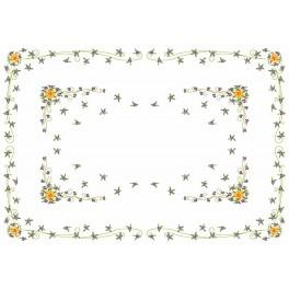 Daffodil with Violas - Cross Stitch pattern