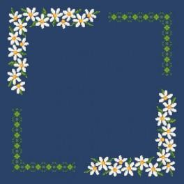 Oxeye daisy - napkin - Cross Stitch pattern