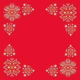 Napkin - Christmas stars - Cross Stitch pattern