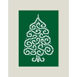 Christmas card - Pine - Cross Stitch pattern